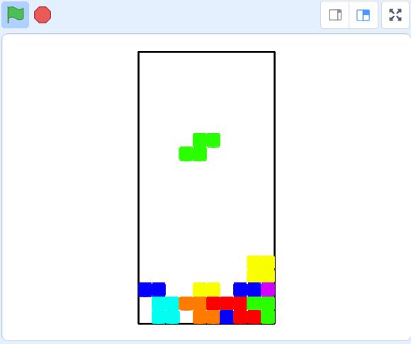 Use Scratch to design a Tetris game