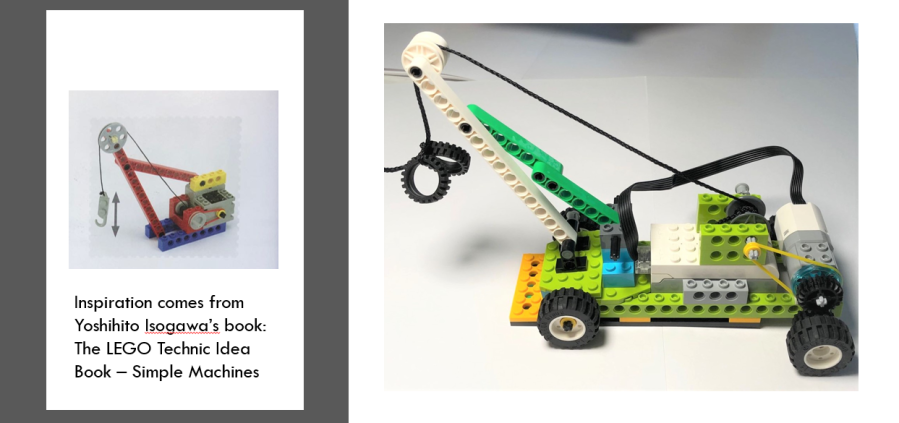 From inspiration to real crane model